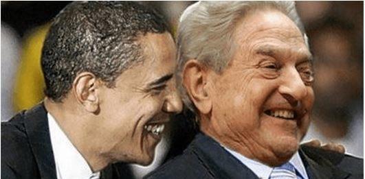 Barack Obama with George Soros