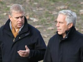 Prince Andrew chats with Jeffrey Epstein