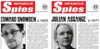 Julian Assange and Eric Snowden