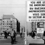 Checkpoint Charlie between East and West Berlin