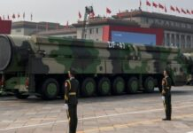 Chinese missiles on parade