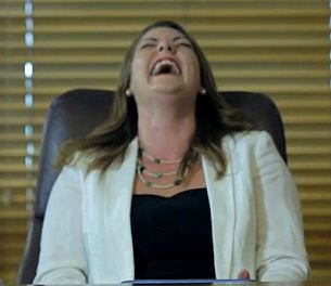 Sarah Hanson Young Laughing