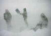 Men in blizzard not a climate emergency