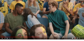 KFC Advert black guy kissing white girl