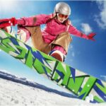 Snowboarder having fun
