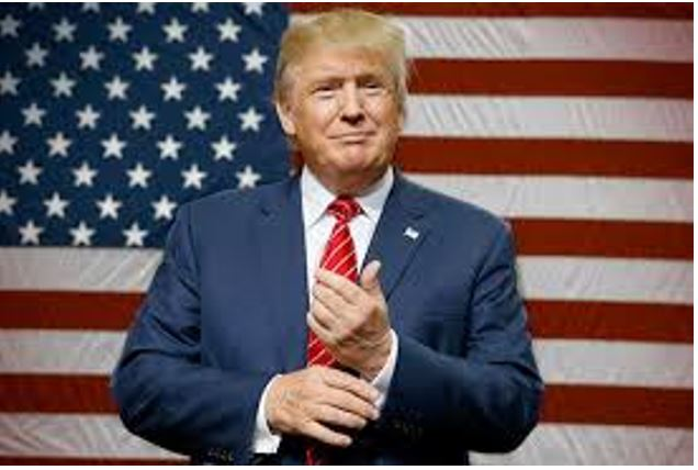 Donald Trump with American Flag