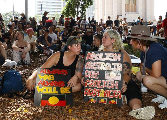 Abolish Australia protesters