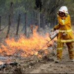 Backburning fires in Australia