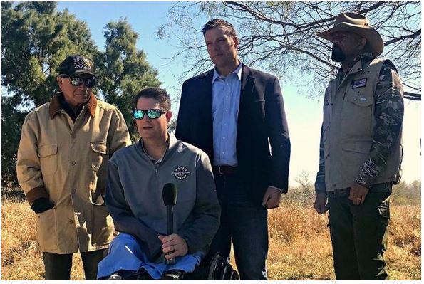 "Brian Kolfage and friends on the border. ""using hempcrete Steve Bannon"