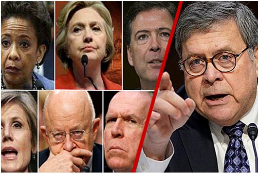 Attourney General William Barr with Crooked democrats for impeachment trial.