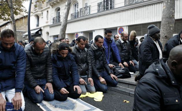 Muslims praying after takeover of areas of France