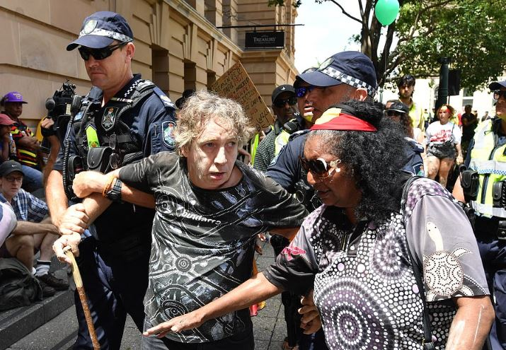 Man arrested at Brisbane Invasion day rally