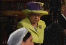 Queen glares at Meghan Markle at wedding