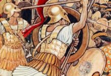 Spartans fight Persians