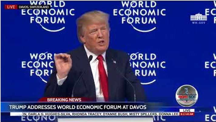 Trump's speech to Davos helped provoke impeachment