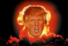 Trump in fire ring