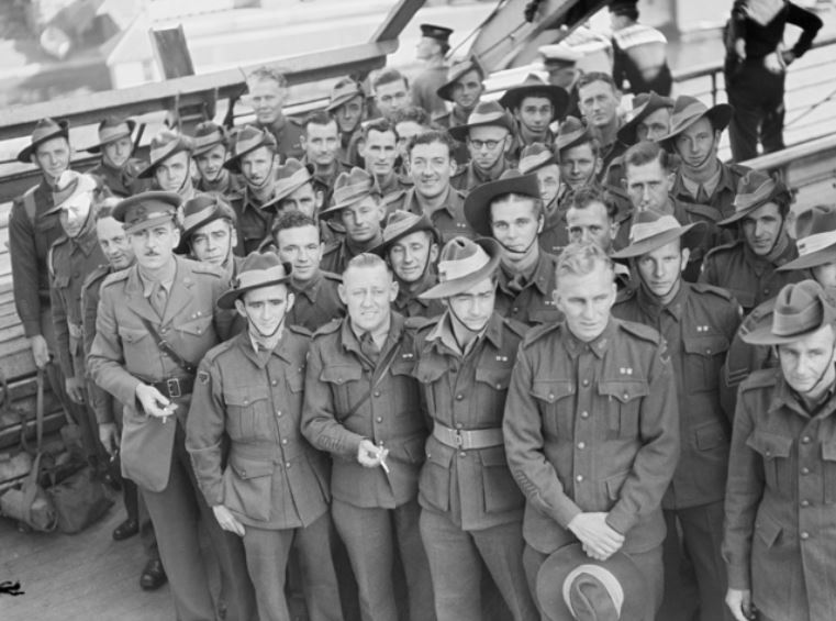 White soldiers after WW2 in Australia