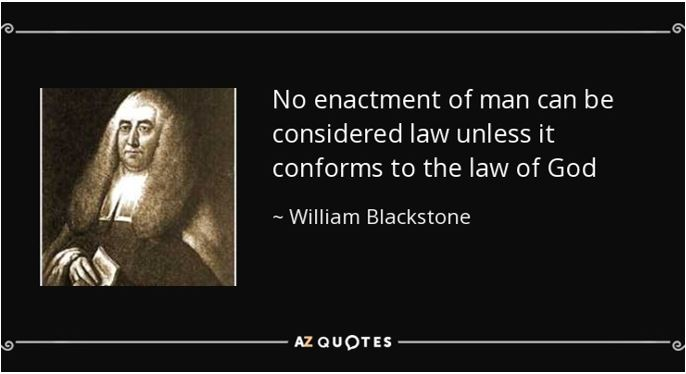 William Blackstone explains the importance of Christianity to the Law