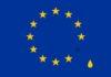 European Flag with tear drop