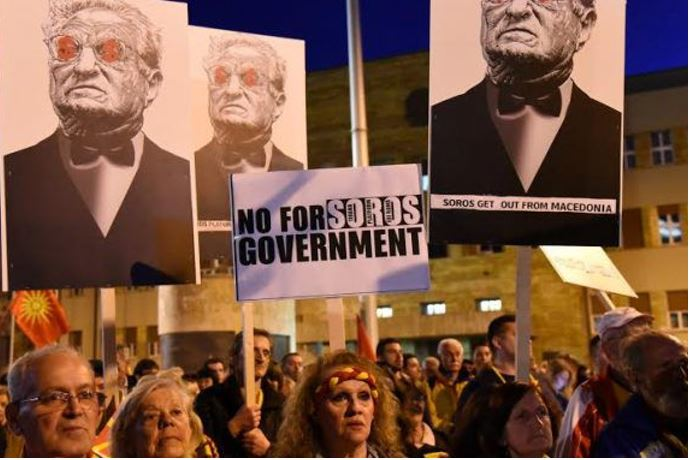 Anti George Soros protest in Macedonia
