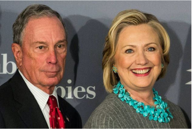 Hillary Clinton With Michael Bloomberg for Democrat President of USA