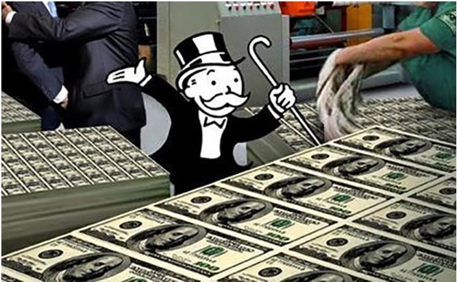 Monopoly money printing