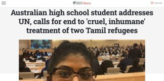 Tamil Refugee advocate at UN