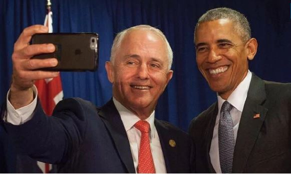 Turnbull with Obama