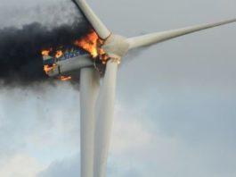 Burning windmill