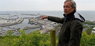 NIgel Farage in Dover