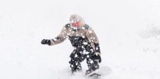 snowstorm snowboarding