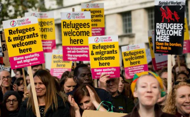 Refugees welcomed