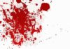 Blood splattered from Christians