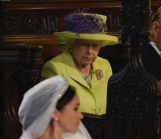 Queen stares at Megan Markle
