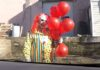 Hydrogen balloons with clown