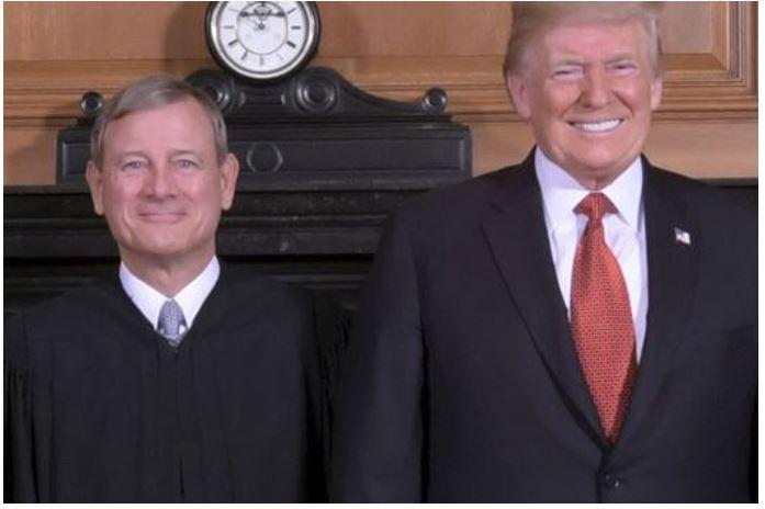 Trump with John Roberts