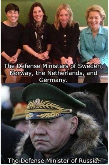 Are These the Defense Ministers of Norway, Sweden, Netherlands, Germany and  Russia?