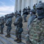 Soldiers guarding Washington