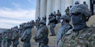 Soldiers guarding Washington