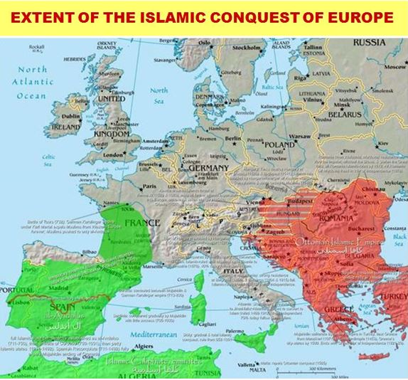 Extent of Muslim conquest of Europe