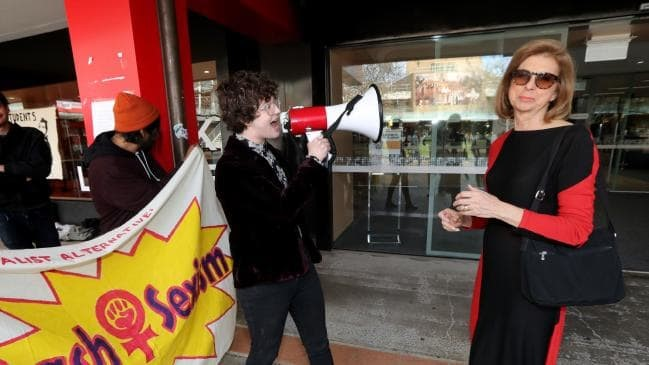 Bettina Arndt protested by feminists